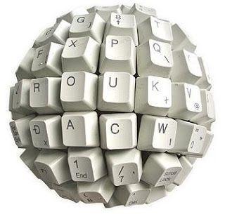 blogosfera, teclado circular