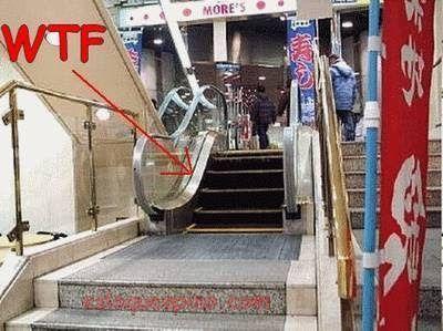 Imágenes insólitas de escaleras. WTF?! #2