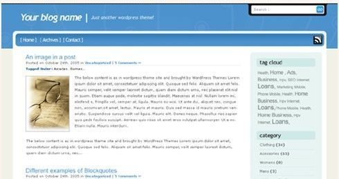 Simple blue theme, Bajar WordPress theme | Plantillas Wordpress