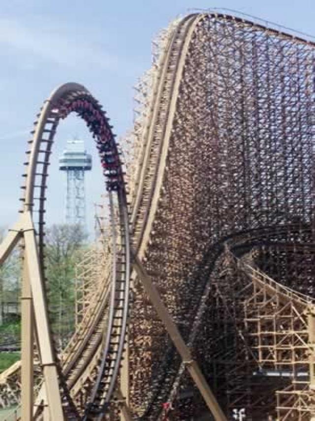 la montaña rusa de madera mas alta del mundo