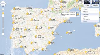 Google Maps clima