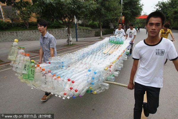 Barco de Botellas de plastico