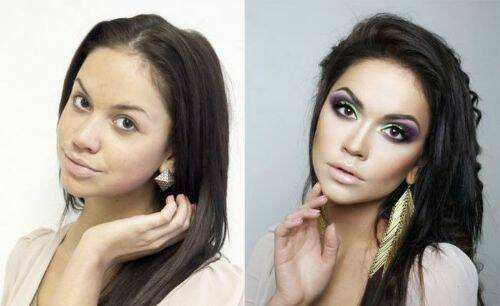Mujeres con excesivo maquillaje 2