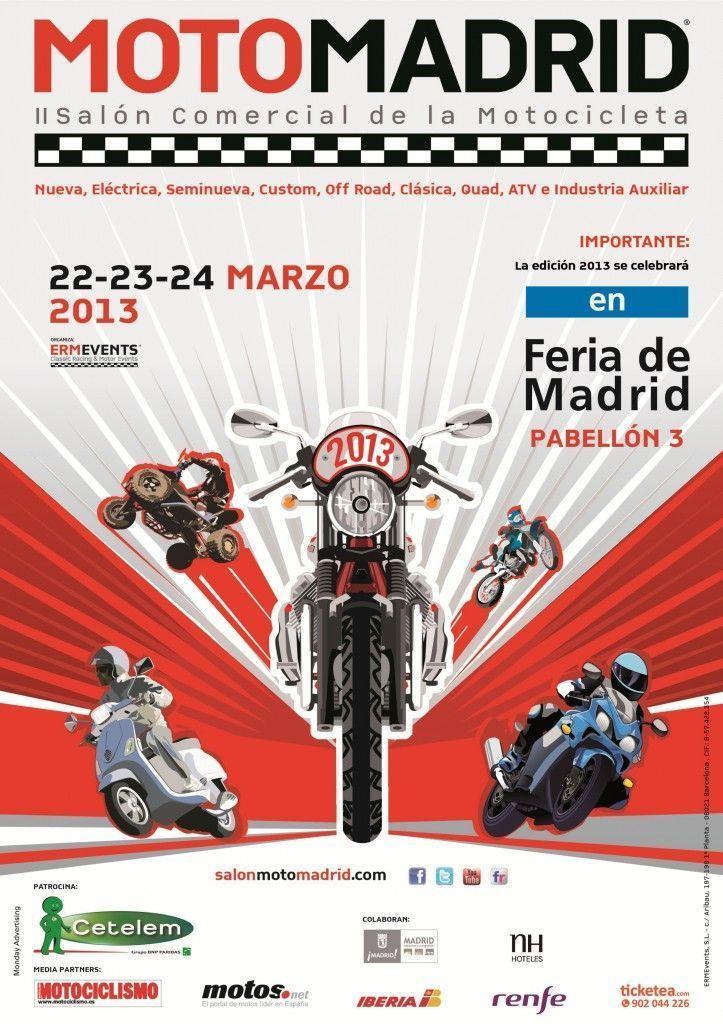Cartel MotoMadrid 2013 (Feria de Madrid)