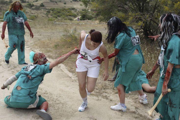 Fotografía carrera de zombies en madrid