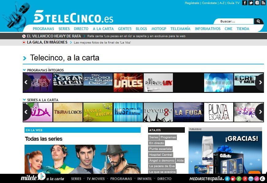 Television a la Carta de Telecinco