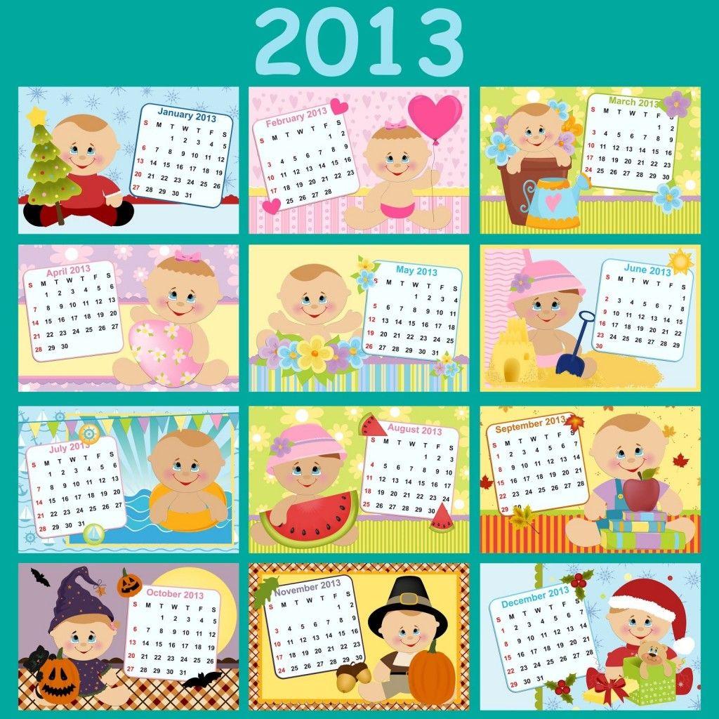 Calendario 2013 con bebés