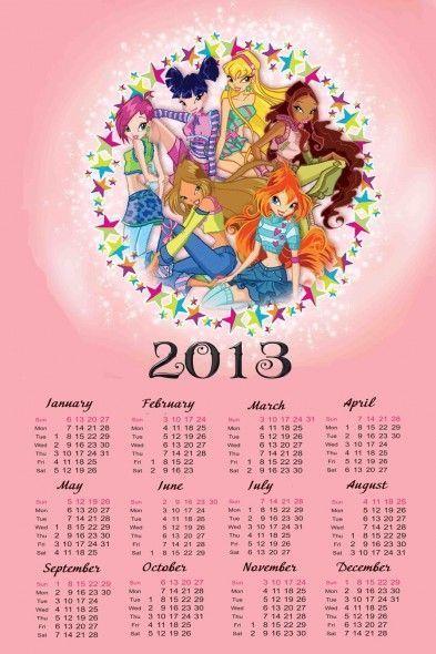 Calendario del 2013 para Niñas