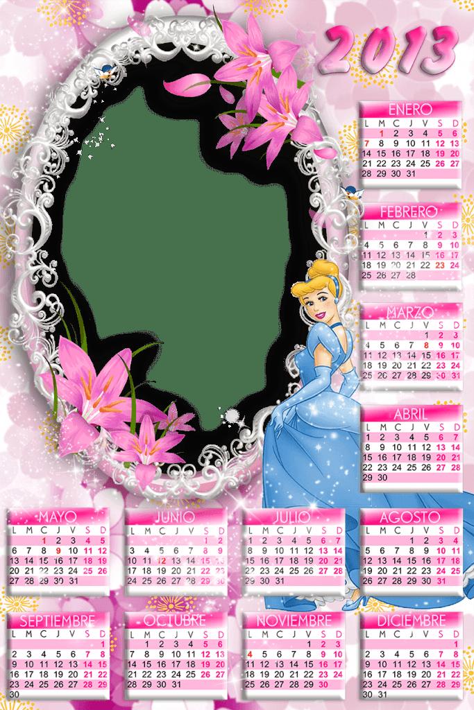 Calendario 2013 para niñas rosa