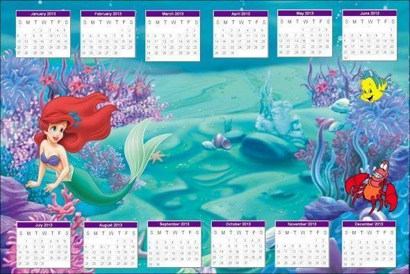Calendario de la Sirenita