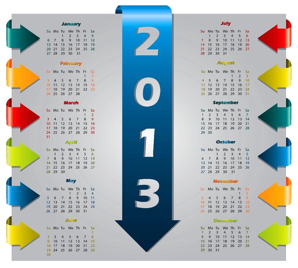 Calendario del 2013