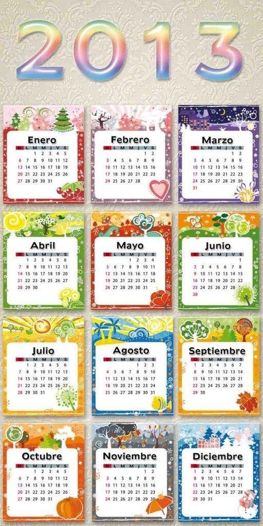 Calendario divertido para el 2013