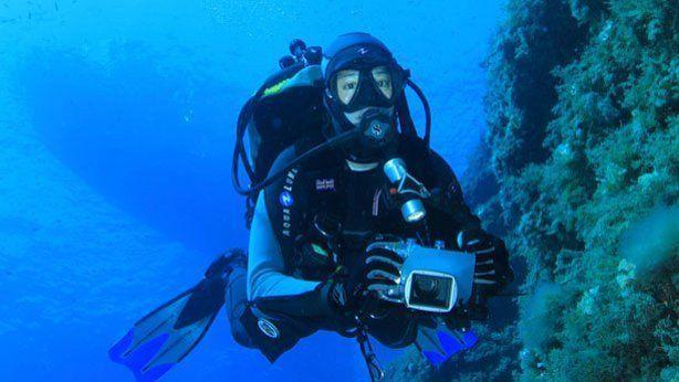Hacer fotos bajo el agua
