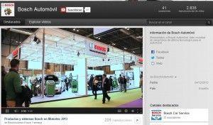 Canal de youtube en Bosch Automoviles