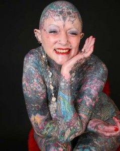 La mujer más tatuada