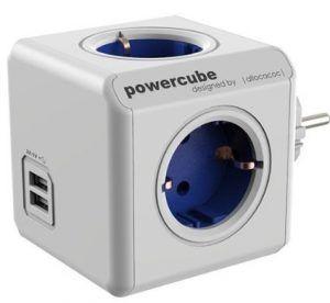 Regleta en forma de cubo con USB