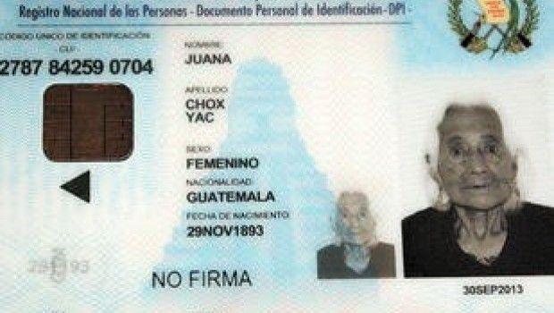 Juana Chox Jack Cumplirá 121 años en Noviembre