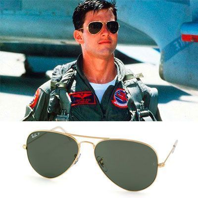 gafas usadas en Top-Gun