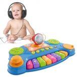 Teclado Musical con Luces y Micrófono Baby DJ Music Mixer