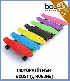 Monopatín Fish Boost (4 ruedas)
