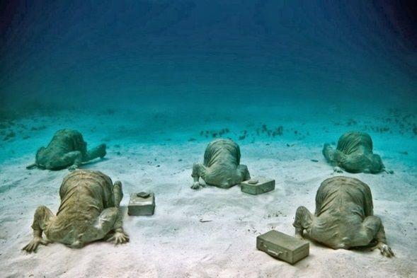 Museo Subacuático, costa de Cancún e Isla Mujeres