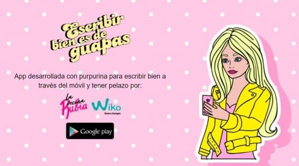 Nueva App Escribir Bien es de Guapas