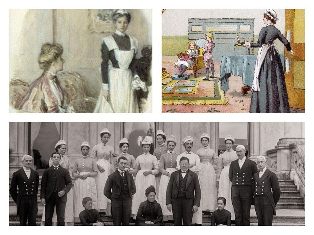 Sirvientas hogar Victoriano