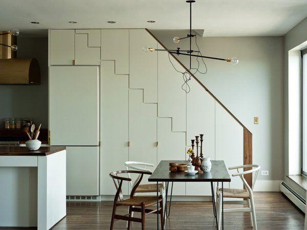 Muebles debajo de escaleras de cocina