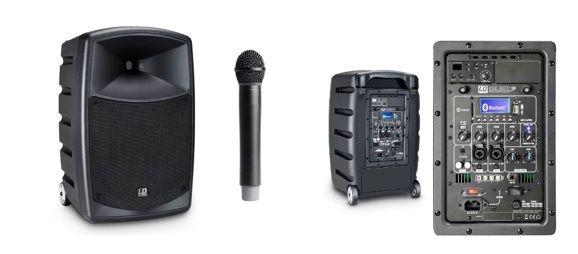 microfonos y altavoces para karaoke